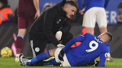 "Jamie Vardy: Brendan Rodgers hopeful injury ""not too serious"""