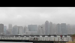 Storm Clouds Obscure New York City Skyline