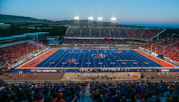 Boise State's blue turf was a genius idea for the Broncos' brand