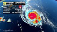 A shift in major hurricane Sam's trajectory towards Canada