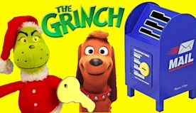 The Incredibles and Paw Patrol Write Santa a Letter With The Grinch Movie Mailbox