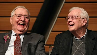Jimmy Carter mourns the death of Walter Mondale, calling him the 'best vice president in our country's history'