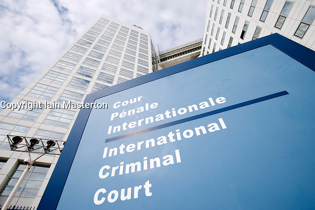 The Hague; Exterior of International Criminal Court or ICC in the ...