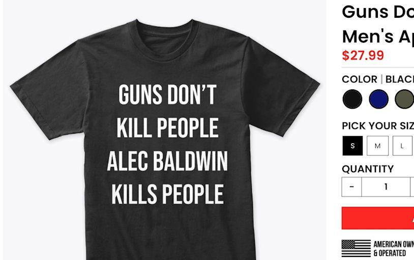 Donald Trump Jr. is selling shirts that say 'guns don't kill people, Alec Baldwin kills people' after Halyna Hutchins death