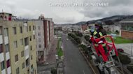 Ecuador firefighter livens up lockdown with trumpet