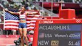 Sydney McLaughlin breaks world record in women's 400-meter hurdles to win gold