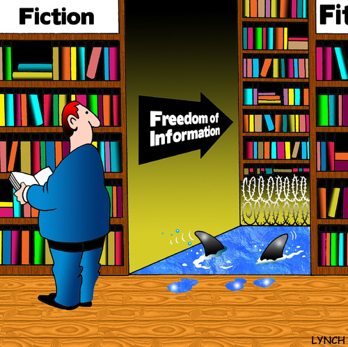 Cartoon: Freedom of information (medium) by toons tagged foi,freedom ...