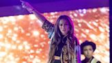 J.Lo Performed in a Crop Top and Chic Robe for Her Global Citizen Live Rehearsal