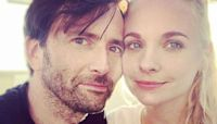 David Tennant's wife shares first photo of their new baby – watching Doctor Who!