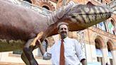 Un dinosauro ai Giardini Montanelli: davanti al Museo di storia naturale arriva un Saltriovenator di 8 metri