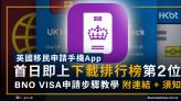 英國移民申請手機App首日即登下載榜第2位!BNO VISA申請步驟+連結