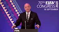 Infantino says Covid relief money will go where needed, condemns racism as a 'virus' in soccer