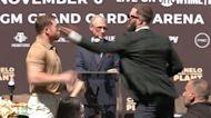 Canelo Alvarez, Caleb Plant trade blows in pre-fight press conference