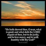 Micah 6:8 - KING JAMES BIBLE ONLINE