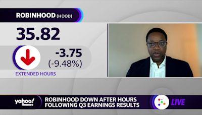 Robinhood slides following earnings release