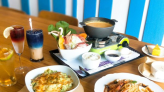【嘉義】努逗風味館-地中海與無印良品的交逢,夢幻星空飲勾勒油畫美,濃郁南瓜濃湯鍋。