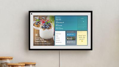 售價 US$250 的 Amazon Echo Show 15 是可以掛在牆上的智慧螢幕
