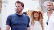 Ben Affleck & Jennifer Lopez Pack on PDA in Italy