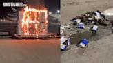 機場停機坪一批智能手機起火 消防到場救熄   社會事