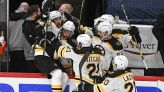 Brad Marchand breaks Bobby Orr's Bruins playoff record in OT