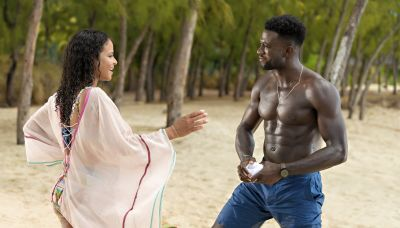 Resort to Love stars Christina Milian and Sinqua Walls dodged geckos and sang Alicia Keys while bonding in new rom-com