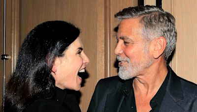 Former ER Costars George Clooney and Julianna Margulies Reunite at Screening for His New Movie