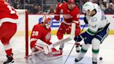 Red Wings Beat Canucks 3-1 With Help From Greiss