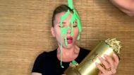 Scarlett Johansson gets slimed by Colin Jost during MTV Movie and TV Awards speech