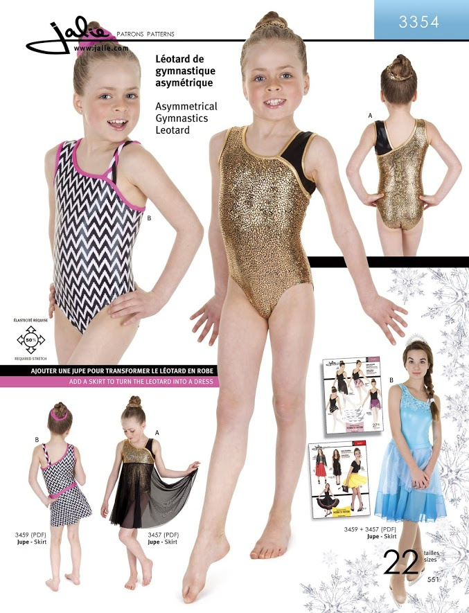 patterns jalie activewear 3354 asymmetrical gymnastics leotard jalie ...