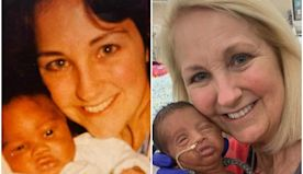 A NICU nurse cared for a father and son 33 years apart — and the side-by-side photos are adorable