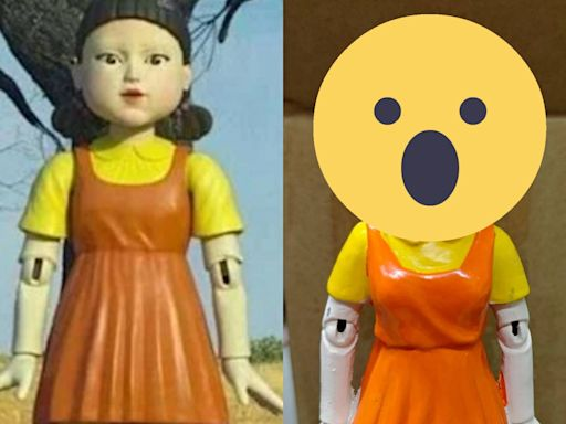 《魷魚遊戲》123木頭人娃娃爆紅!她開箱公仔「驚見紙紮人妝容」嚇翻 網全笑:這尊才是正版