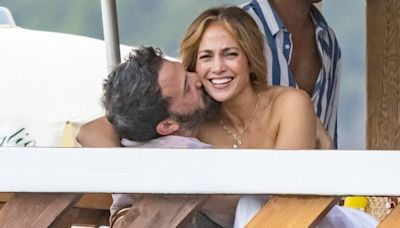 Ben Affleck Showers Jennifer Lopez With Kisses as She Sits on His Lap During Dinner Date: Pic