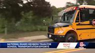 National Guard members train for school transportation efforts