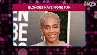 Tiffany Haddish Debuts Platinum Blonde Hair at the 2021 Golden Globes