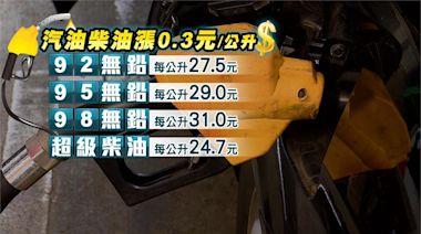 油價連5漲!中油宣布14日起汽、柴油各調漲0.3元-台視新聞網