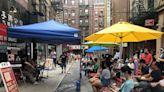 遊客「請坐」 曼哈頓華埠辦街頭音樂會