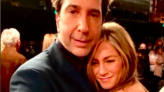 People are losing it over this behind the scenes picture of David Schwimmer and Jennifer Aniston cuddling