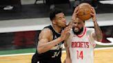 Bucks beat Rockets 141-133, tie Nets for 2nd place in East