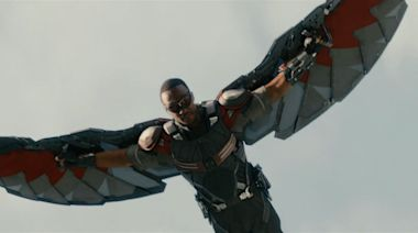 Anthony Mackie immediately embarrassed himself when he first flew as Falcon in 'Captain America: Civil War'