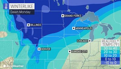 Old Man Winter holds the central US in his icy grip