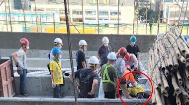 啟德地盤工業意外 男工遭棚竹擊傷