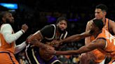Anthony Davis, Dwight Howard downplay scuffle as Lakers fall to Suns