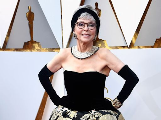 Great Outfits in Fashion History: Rita Moreno Re-Wearing Her 1962 Oscars Dress in 2018