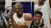 Photos: NBA legends receiving their Finals MVP trophies