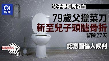 老翁不滿兒子佔洗手間抽煙 令他不能上廁所 斬子至頭顱骨折候判