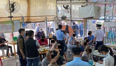 警方食環巡屯門熟食市場 15食客違限聚令遭票控