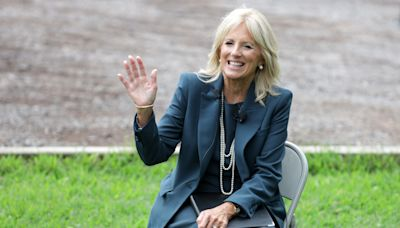 Jill Biden Made a Case for Polka Dots With Her Olympics Opening Ceremony Dress
