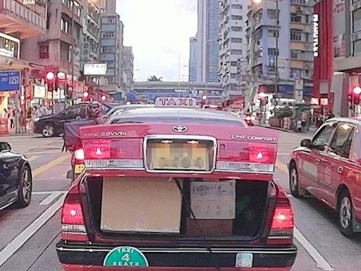 【片段】車尾箱跌包裹的士揚長而去 好心司機拾獲交失主
