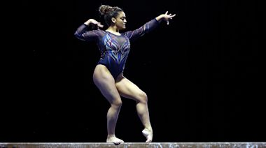 Laurie Hernandez competes for 1st time in nearly 5 years with 'Hamilton' routine