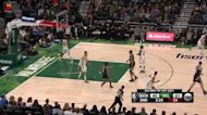 Kevin Durant with a 3-pointer vs the Milwaukee Bucks
